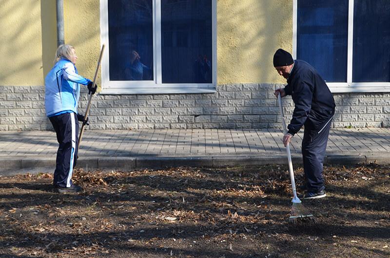 Харьковские динамовцы приняли участие в общегородском субботнике 2019
