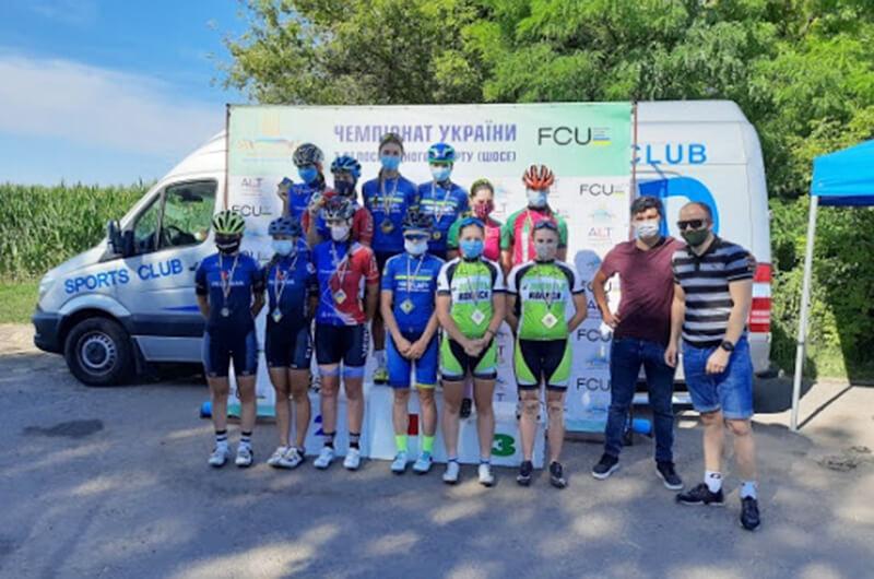 Динамовские велогонщики вернулись с медалями чемпионата Украины 2020